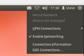 ubuntu ethernet network device not managed